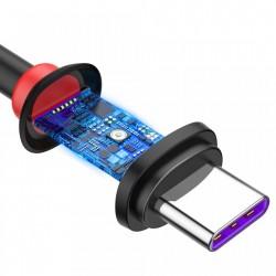 Cablu de date si incarcare , Baseus Purple Ring HW Quick Charger Usb la USB Type C 40W 1m Black