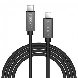 Cablu de date si incarcare , Dux Ducis , Usb-C la Usb-C , 5V , 3A , 1M , negru