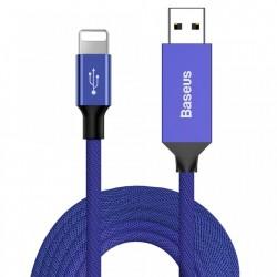 Cablu de date si incarcare Lightning , Baseus Artistic , 5M Quick Charge 3.0 QC 3.0 , albastru