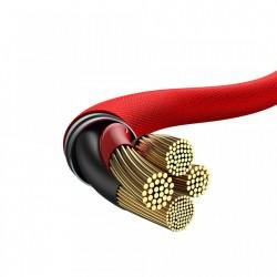 Cablu pentru incarcare Lightning, Baseus Yiven, USB C -Lightning, 2 m, Rosu