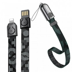 Cablu telefon Baseus Gold Collar USB For Lightning 2.4A 85cm Pop Black