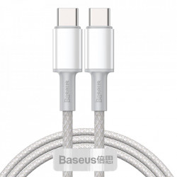 Cablu telefon, Baseus USB Type C - USB Type C , Power Delivery Quick Charge 100 W 5 A 1 m white