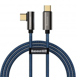 Cablu USB-C la USB-C Baseus Legend Series, PD, 100W, 1m (blue)