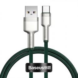 Cablu USB tip C Baseus Cafule Series Metal Data USB - 40 W (10 V / 4 A) SCP (Protocol Huawei SuperCharge) 1 m verde