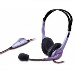 CASTI Genius HS-04S cu microfon albastru