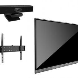 Display Interactiv DONVIEW DS-65IWMS-L05A cu suport de perete si camera videoconferinta Track