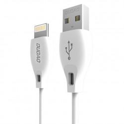 Dudao USB / Cablu de incarcare a datelor Lightning 2.1A 2m alb (L4L 2m alb)