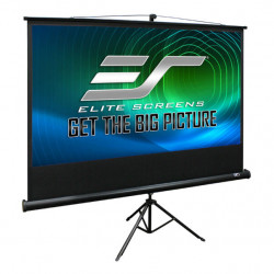Ecran proiectie cu trepied, 266 x 149 cm, profesional, EliteScreens T120UWH Negru, Format 16:9