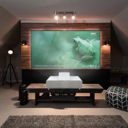 Epson projection TV 4K EH-LS500W Android si Ecran fix perete, EliteScreens ALR dedicat ptr UST AEON AR120H-CLR, 16:9
