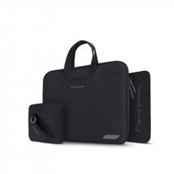 Geantă pentru laptop 15,4 + husa pentru încărcător și mouse pad Cartinoe Breath Series Black