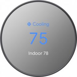 GOOGLE Termostat Nest Cu Senzori De Miscare, Temperatura, Umiditate Si Lumina Ambientala, Negru