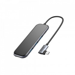 Hub multi-functional/adaptor pentru MacBook, Baseus ,Type-C la 3xUSB 3.0+4K/HD+PD Dark Grey (CAHUB-BZ0G)