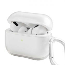 Husa Apple Airpods Pro Uniq Glase Protective Case Transparenta Cu Carabina Metalica - Transparent