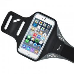 Husa banderola brat / mana pt alergat, sala, bicicleta compatibila cu telefoane cu display pana la 4.7, Gema, negru
