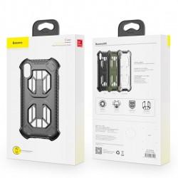 Husa protectie cu gauri pentru ventilatie, Baseus Cold Front, pentru iPhone XS / X, transparent