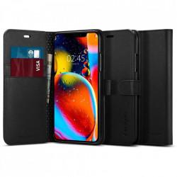 Husa Spigen tip carte/portofel Wallet S pentru iPhone 11 - negru