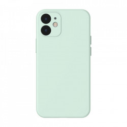 Husa telefon Baseus Liquid Silica Gel Case Flexible iPhone 12 , Mint green (WIAPIPH54N-YT6B)