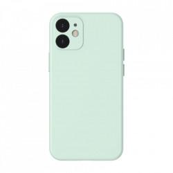 Husa telefon Baseus Liquid Silica Gel Case Flexible iPhone 12 , Mint green (WIAPIPH54N-YT6B)