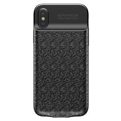Husa telefon cu baterie incorporata de 3500 mAh , Baseus Plaid Backpack pentru Apple iPhone X/Xs , neagra