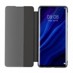 Husa telefon cu fereastra inteligenta Baseus Smart View Flip Cover pentru Huawei P30 , neagra