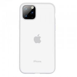 Husa telefon din gel Baseus Jelly pentru iPhone 11 Pro Max alb transparent