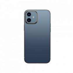 Husa telefon din gel flexibil cu margine lucioasa si metalica, Baseus Shining iPhone 12 mini black (ARAPIPH54N-MD01)