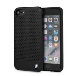 Husa telefon din piele ecologica , perforata , tip bumper , Bmw pentru Apple iPhone 7/8 , neagra