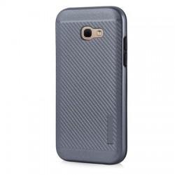Husa telefon Puky Carbon cu placuta metalica incorporata pentru Huawei P10 Lite , gri