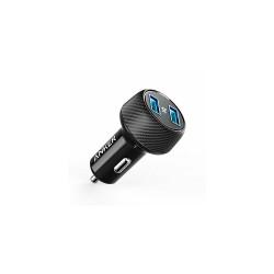 Incarcator auto Anker PowerDrive 2 Elite 2xUSB Negru