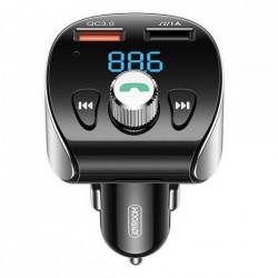 Incarcator auto + modulator FM Joyroom Bluetooth 5.0 MP3 2x USB TF micro SD 18 W 3 A Quick Charge 3.0 black (JR-CL02)