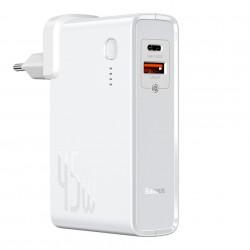 Incarcator + baterie externa Baseus Power Station(GaN)2 in 1 Quick Charge C+U 10000mAh 45W EU White