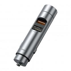 Incarcator + modulator Baseus Energy Column Car Wireless MP3 - Silver