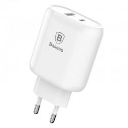 Incarcator priza , Baseus Bojure , USB-C PD 3A , USB 1A 32W alb