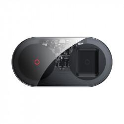 Încărcător wireless Baseus dual pentru telefoane și AirPods (20W)