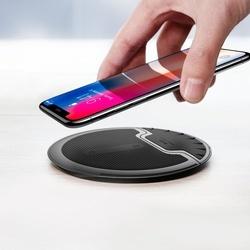 Incarcator wireless telefon, Baseus, cu functie stand, 10 W, negru