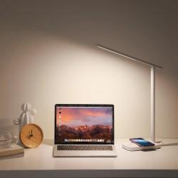 Lampa de birou touch cu LED si incarcator wireless , Baseus Lett , alba
