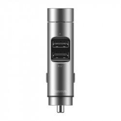 Modulator FM bluetooth si incarcator MP3 fără fir Baseus Energy Column Car (Wireless 5.0 + 5V / 3.1A) Gri