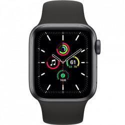 RESIGILAT- Apple Watch SE, GPS, Carcasa Space Gray Aluminium 44mm, Black Sport Band