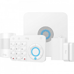 RING Sistem alarma casa/birou antiefractie complet, include 5 produse, usor de instalat, security kit, culoare alb