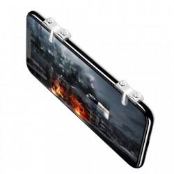 Set 2 bumper smartphone cu butoane pentru gaming, Baseus, transparente