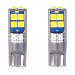 Set 2 x LED CANBUS 10SMD 3030 T10 W5W White 12V/24V