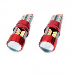 Set 2 x LED CANBUS 27SMD 3014 T10e (W5W) White 12V/24V
