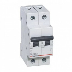 Siguranta automata (disjunctor) 2P/C/10A/4.5KA Legrand 605023