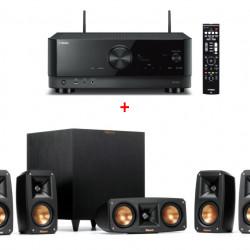 Sistem Home Cinema KLIPSCH Reference Theater Pack 5.1 + Receiver Yamaha RX-V4A, Wi-Fi, Bluetooth, 8K