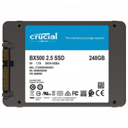 """Solid-State Drive (SSD) Crucial® BX500, 240GB, 3D NAND, SATA 2.5"""""""