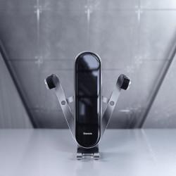 Suport auto cu prindere in ornament ventilatie, Baseus Penguin , gri (SUYL-QE0S)