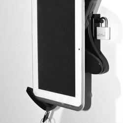 Suport tableta de perete Multibrackets 3497 + Blackmount PAD29-01 securizat si rotabil 360 grade in jurul axului