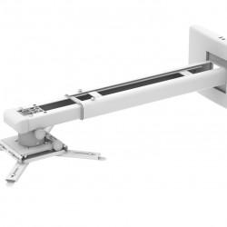 Suport videoproiector de perete Blackmount CT-PRB-11M, distanta perete-proiector 850-1200mm, max.10kg, alb