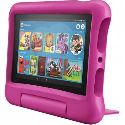 Tableta Amazon Fire 7, afisaj de 7 inch, 16 GB, roz, potrivita pentru copii