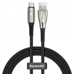 USB - Cablu USB tip C Baseus Water Drop 66 W (11 V / 6 A) Huawei SuperCharge SCP 1 m negru (CATSD-M01)